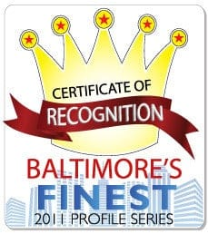 baltimore's finest certificate of recognition 2011