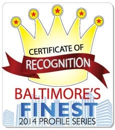 baltimore's finest certificate of recognition 2014